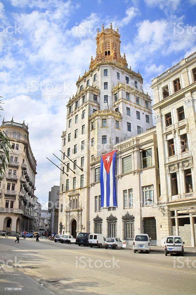 Etecsa building in Historic center of Havana. royalty-free stock photo