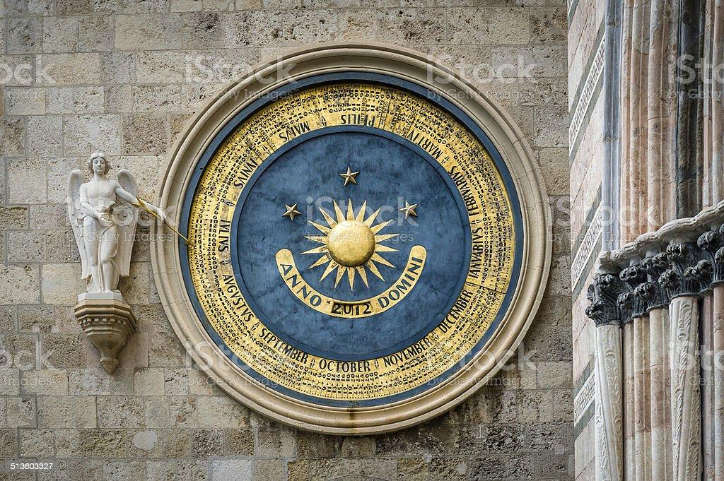 Eternal calendar in Messina stock photo