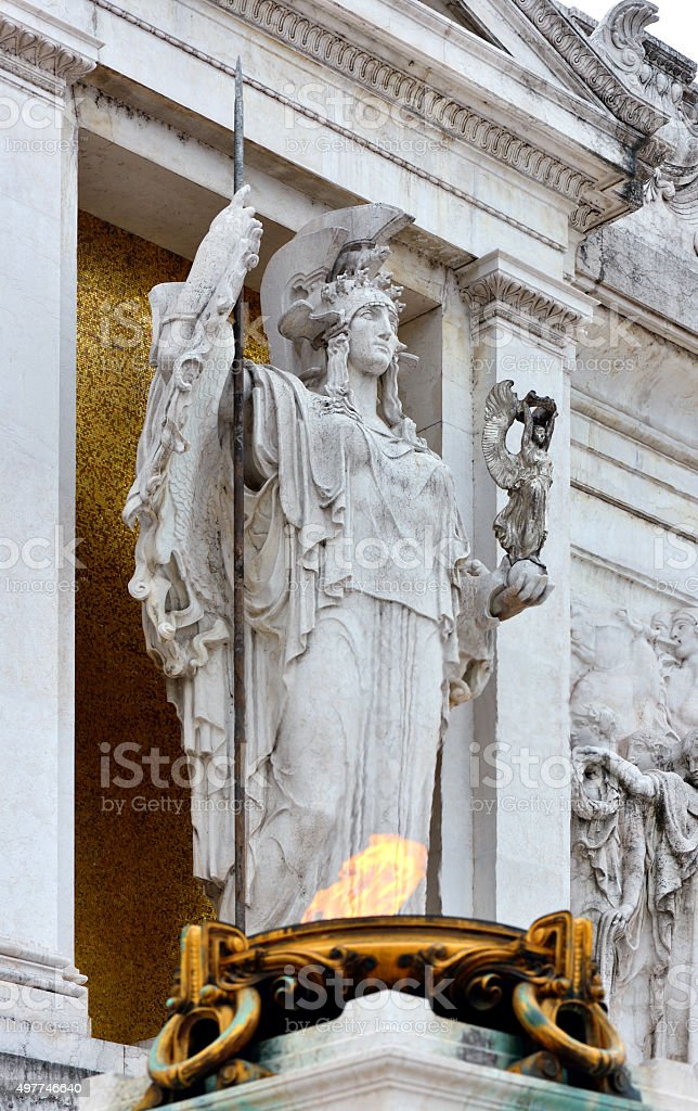 Eternal Flame and Statue stock photo