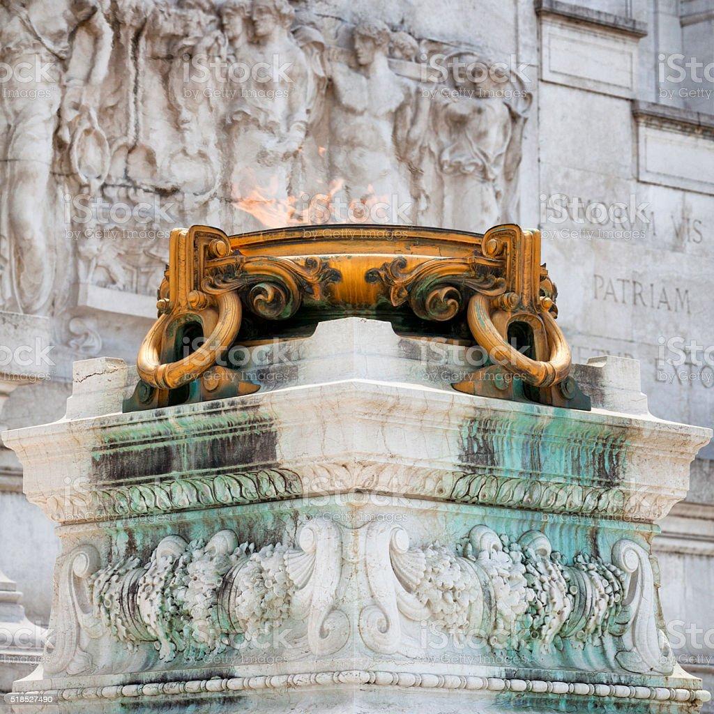 Eternal Flame Monumento Nazionale a Vittorio Emanuele II, Rome, Italy stock photo