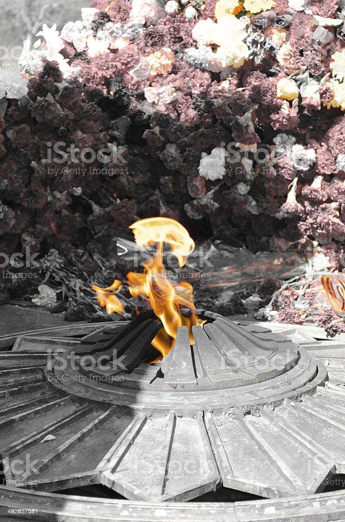 Flamme éternelle photo libre de droits