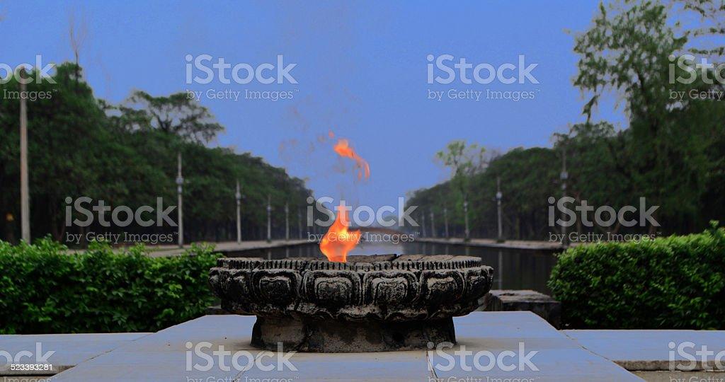 Eternal Peace Flame stock photo