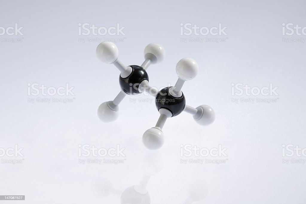 Ethane Molecule royalty-free stock photo
