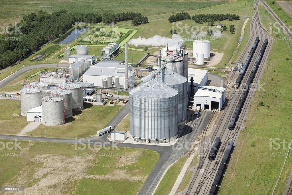 Ethanol Biorefinery Aerial View stock photo