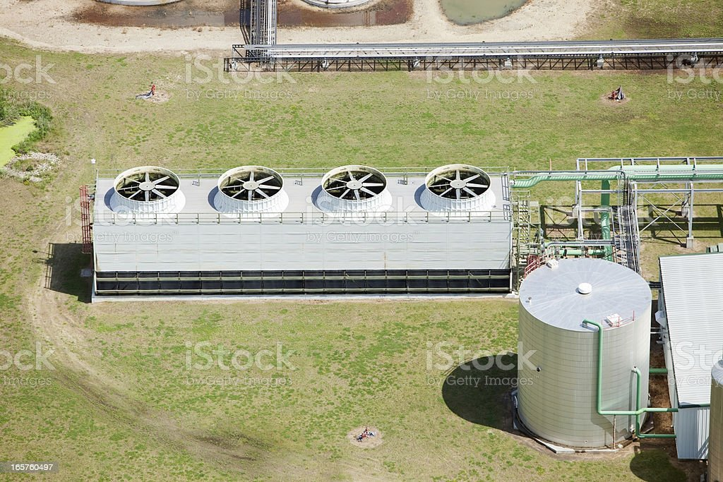 Ethanol Biorefinery Cooling Tower System royalty-free stock photo