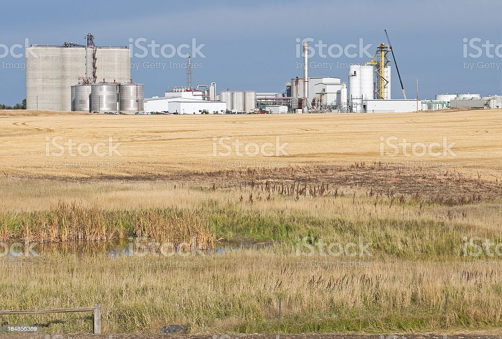 Ethanol manufacturing plant in North Dakota royalty-free stock photo