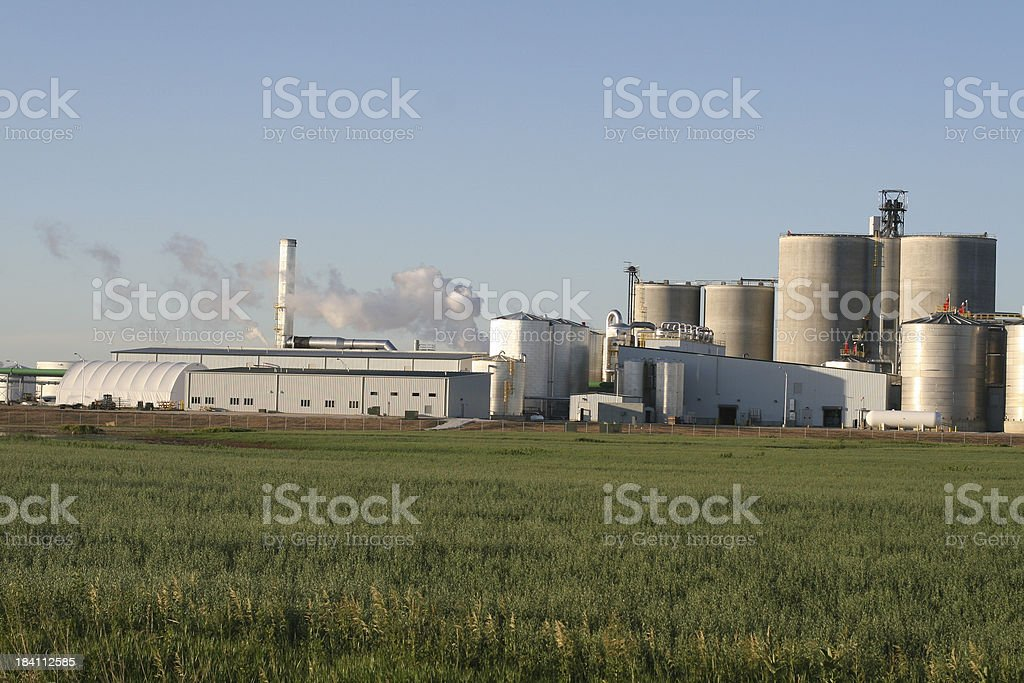 Ethanol Manufacturing Plant royalty-free stock photo