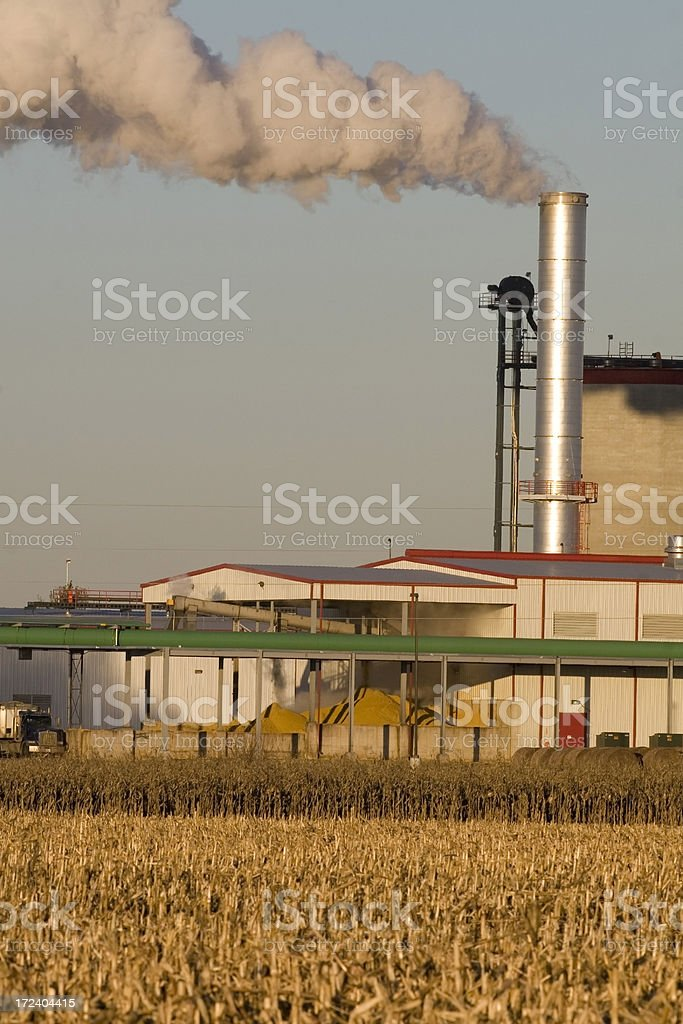 Ethanol Plant and Corn Stockpile royalty-free stock photo