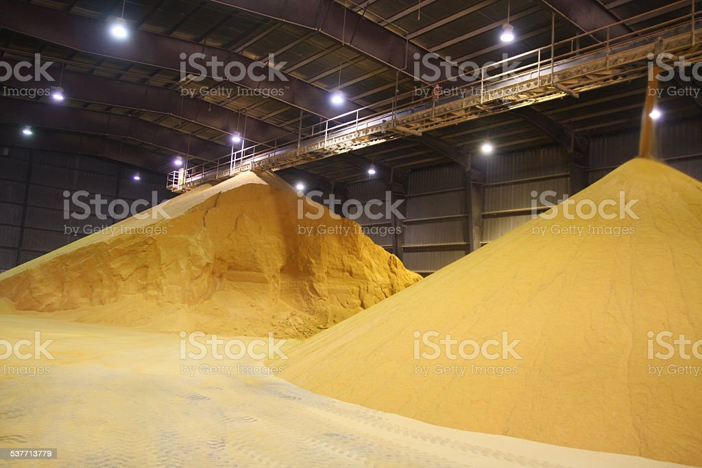 Ethanol Plant Coproducts stock photo