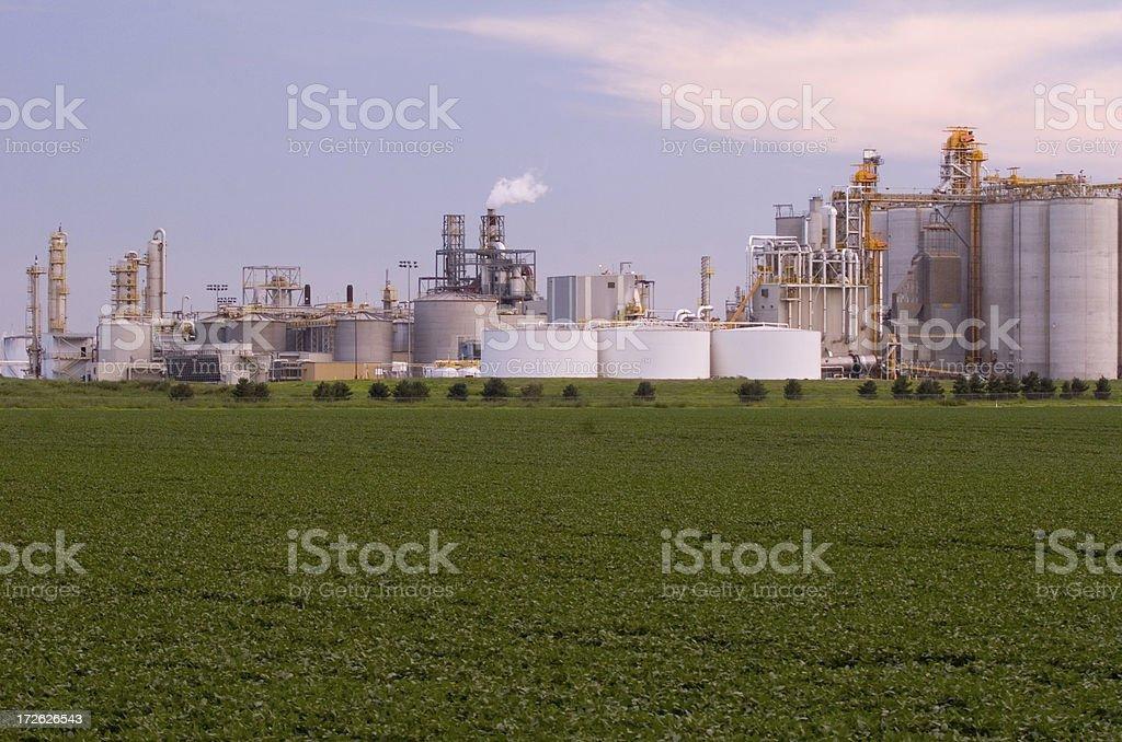 Ethanol Plant royalty-free stock photo