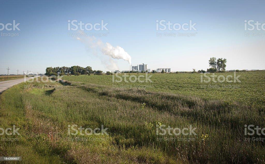 Ethanol Plant stock photo