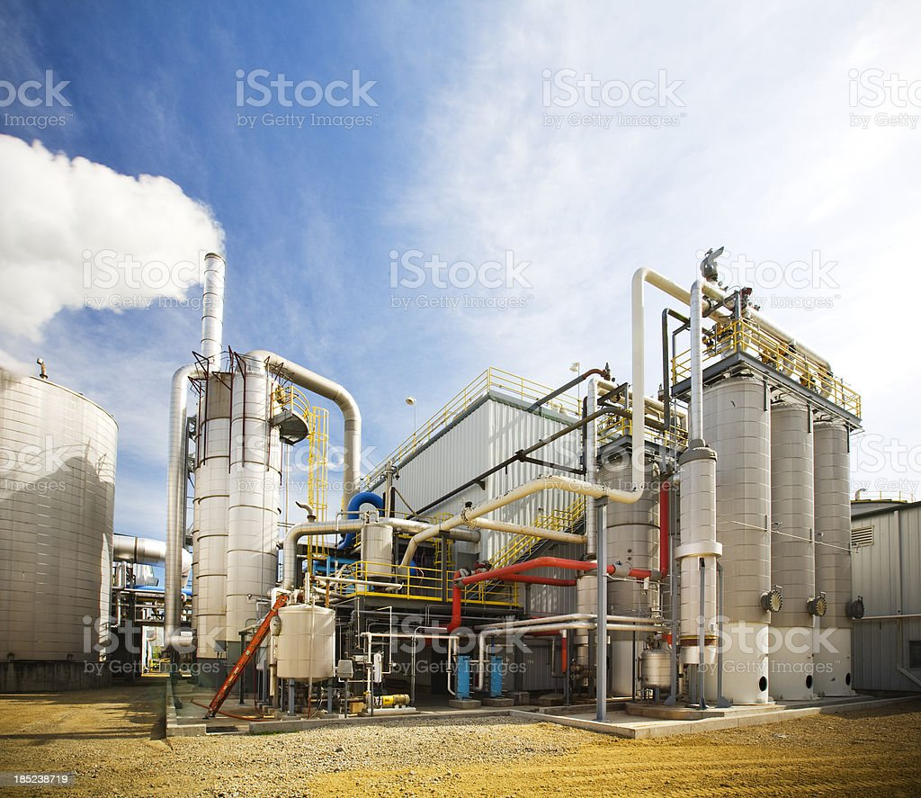 Ethanol Refinery stock photo