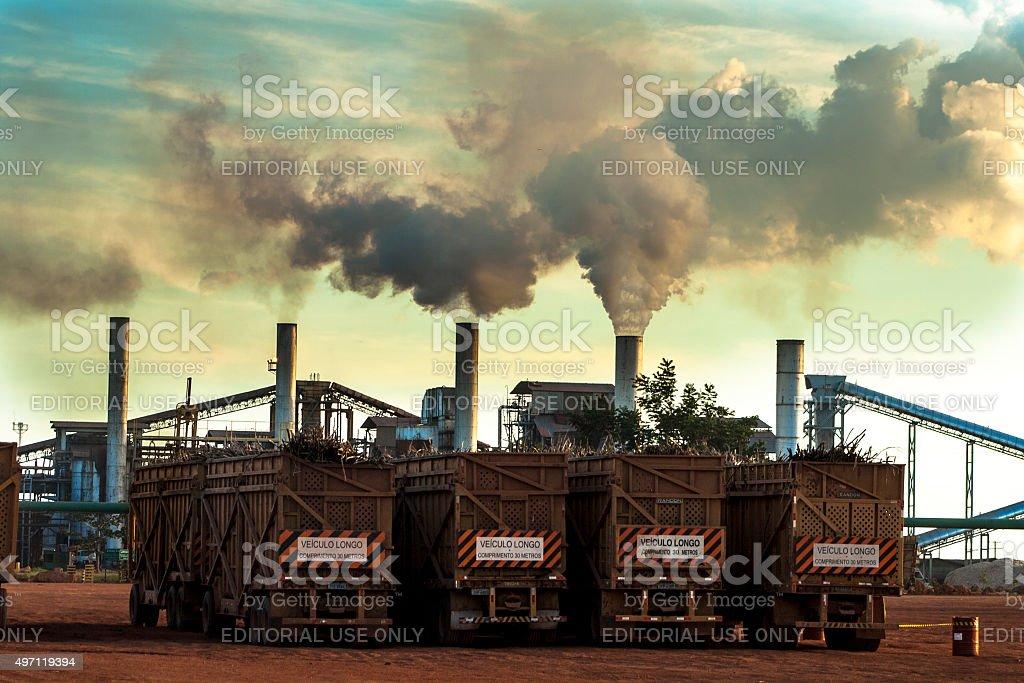 Ethanol Refinery stock photo