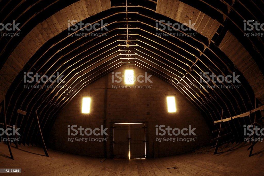 Ethereal Barn stock photo
