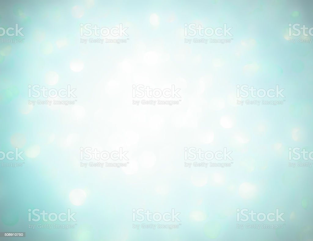Ethereal bright aqua shimmer backgound stock photo