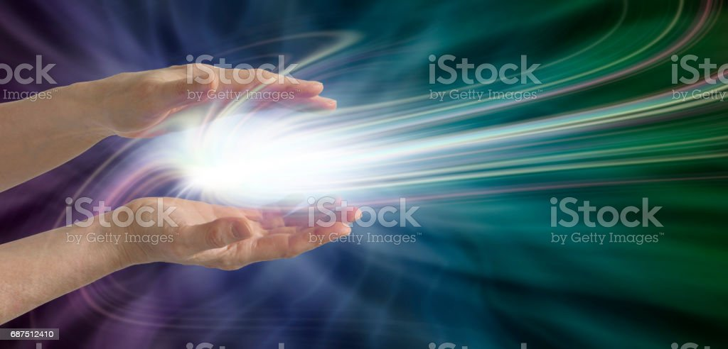 Ethereal Electromagnetism stock photo