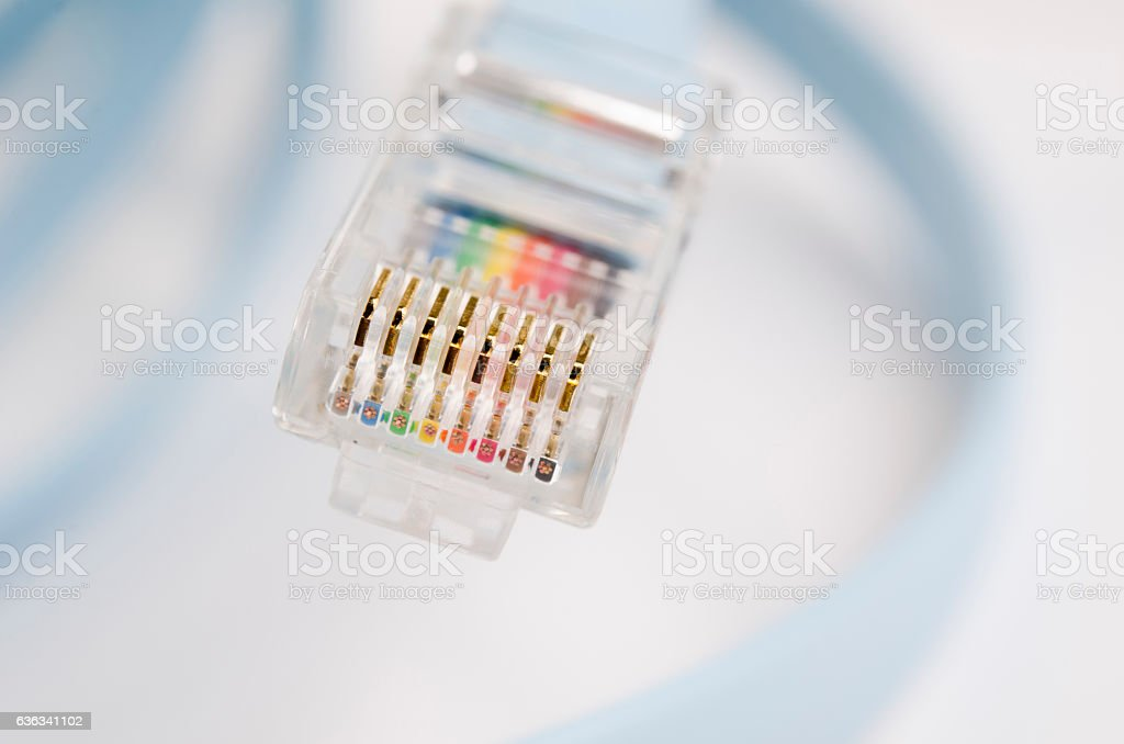 Ethernet Cable Plug stock photo