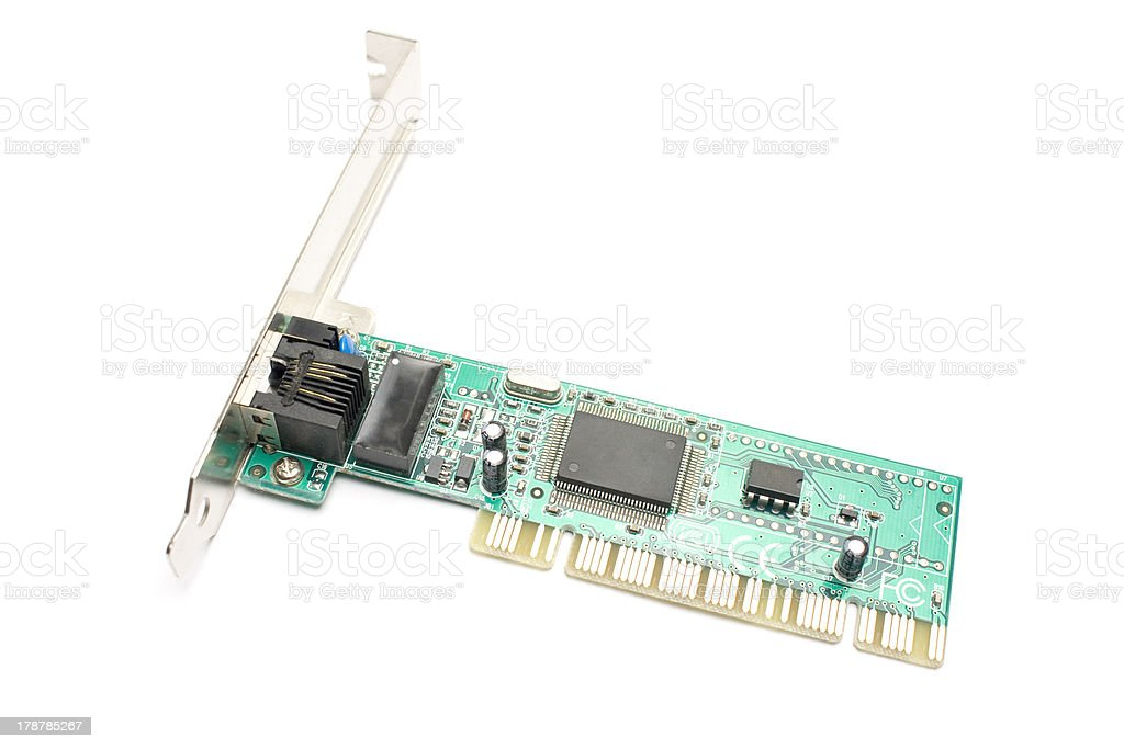 Ethernet Card royalty-free stock photo