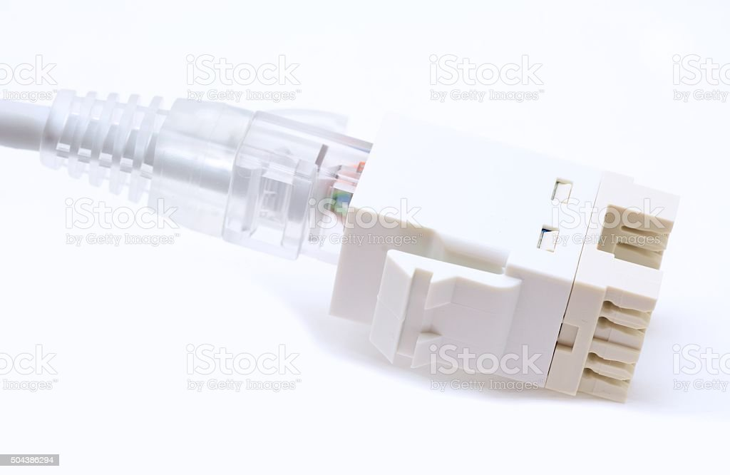 Ethernet connection stock photo