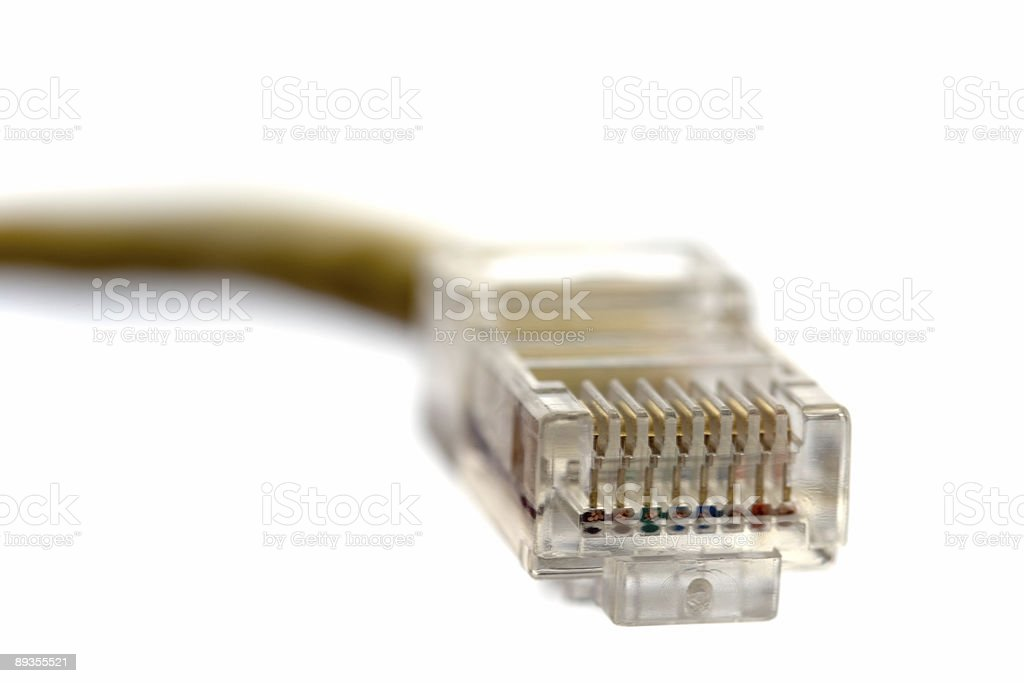 ethernet connector royalty-free stock photo