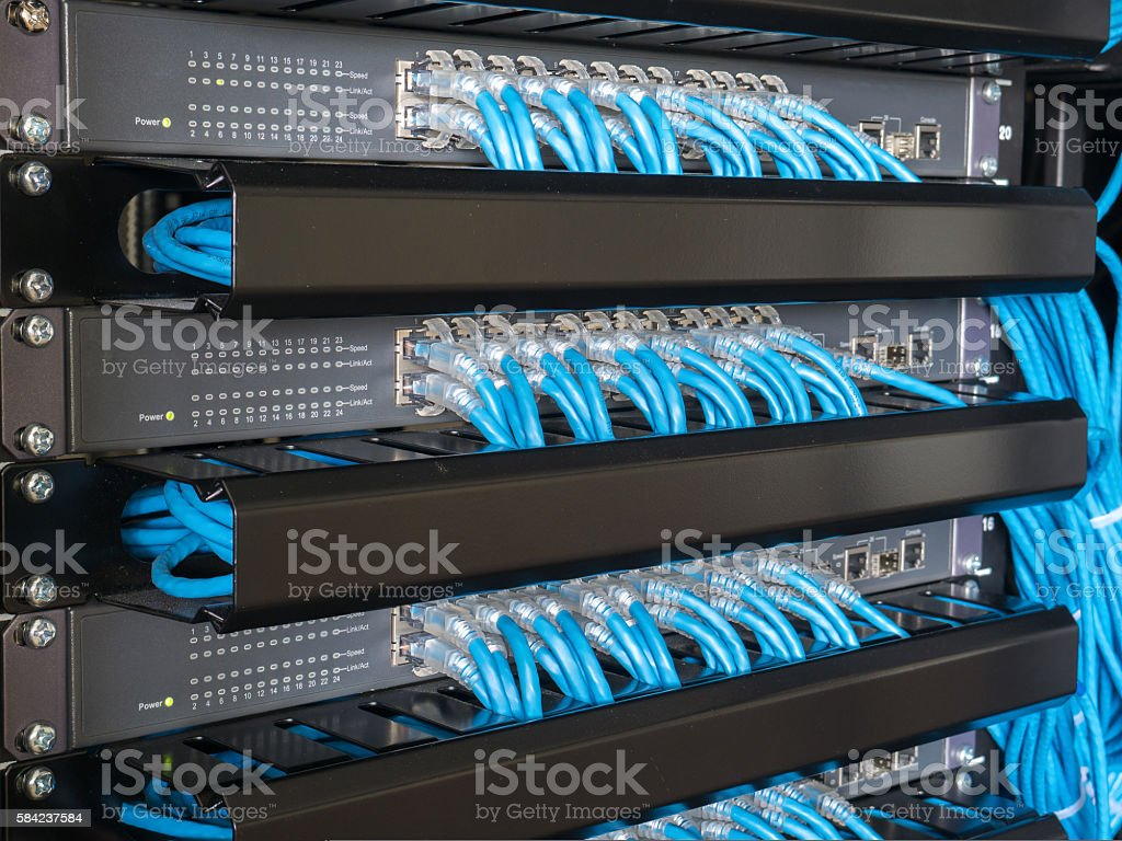 Ethernet Network switch stock photo