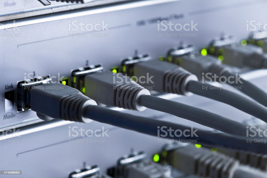 Ethernet Plugs royalty-free stock photo