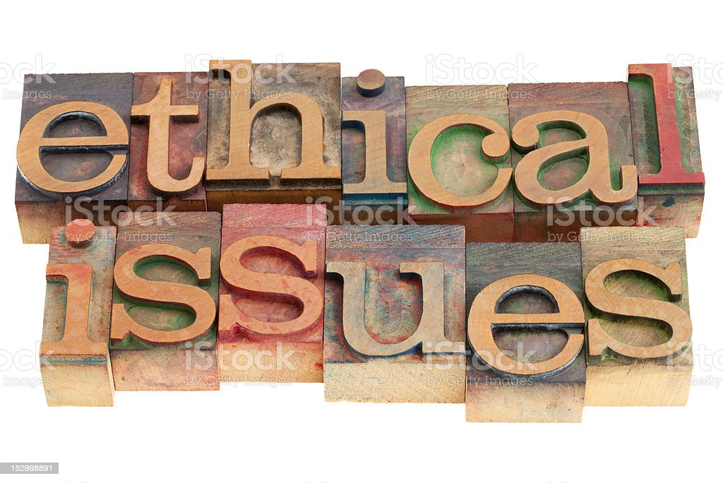 ethical issues royalty-free stock photo