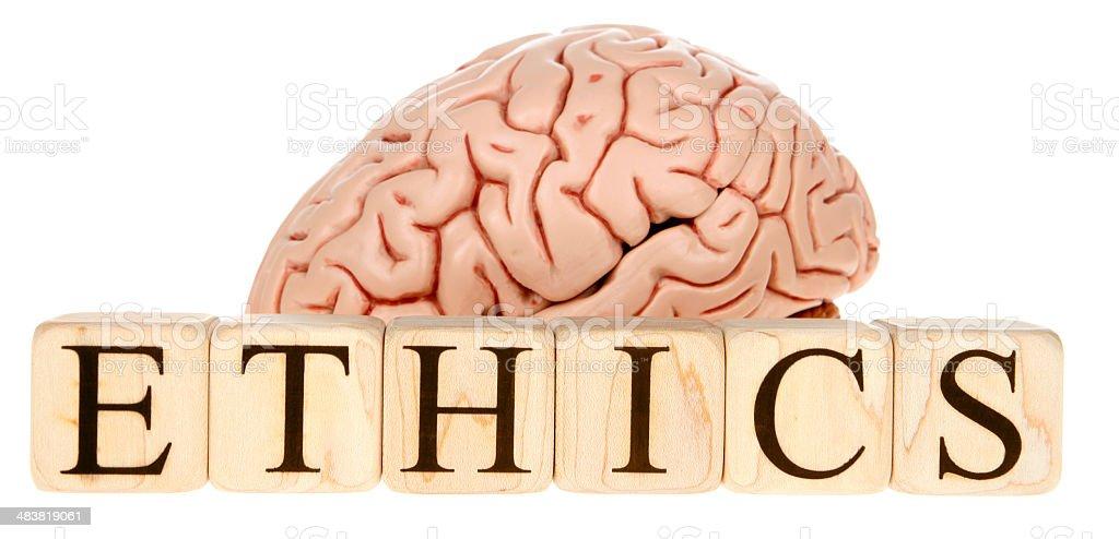Ethics Brain stock photo