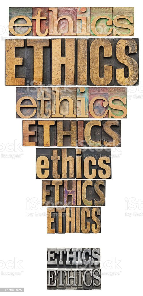 ethics exclamation point stock photo