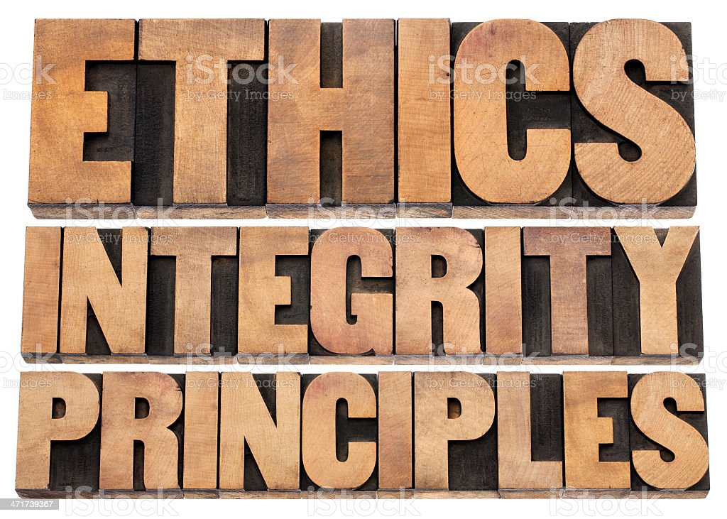 ethics, integrity and principles royalty-free stock photo