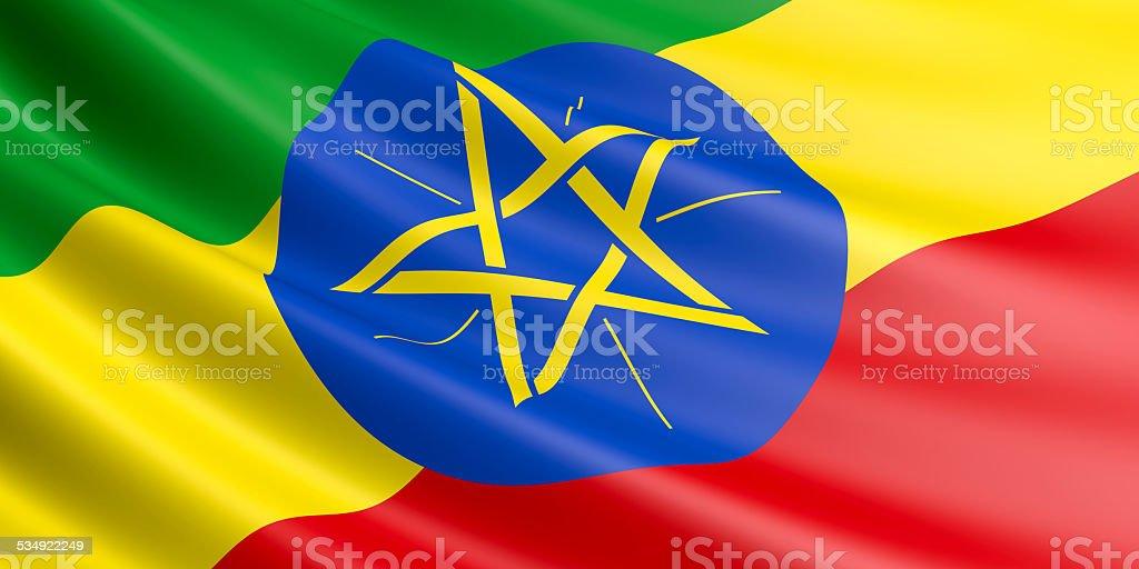 Ethiopia flag. royalty-free stock photo