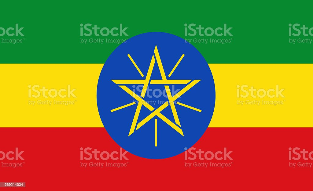 Ethiopia flag stock photo
