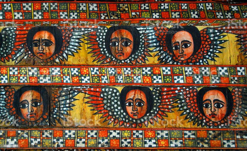 Ethiopian angels stock photo