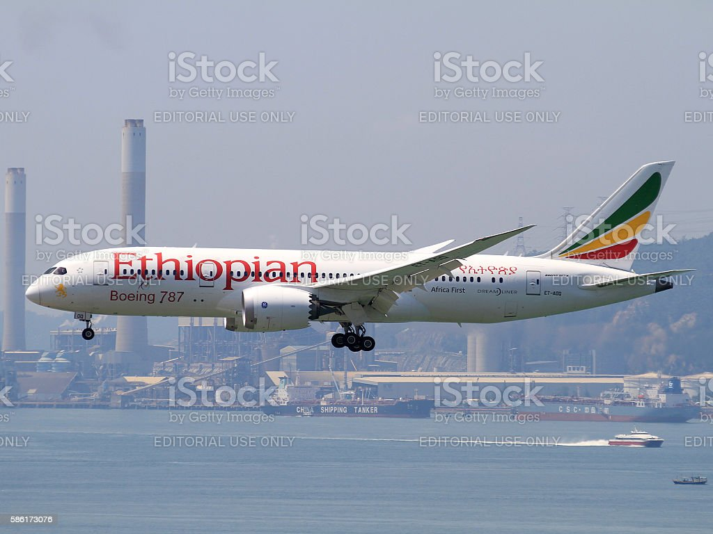 Ethiopian Boeing 787-900 stock photo