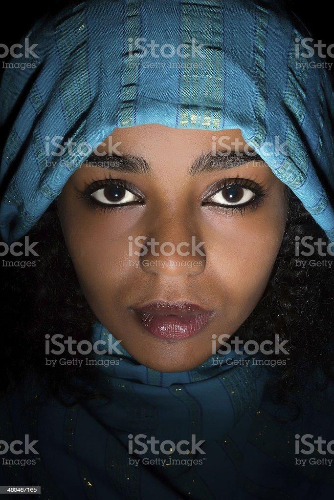 Ethiopian closeup stock photo
