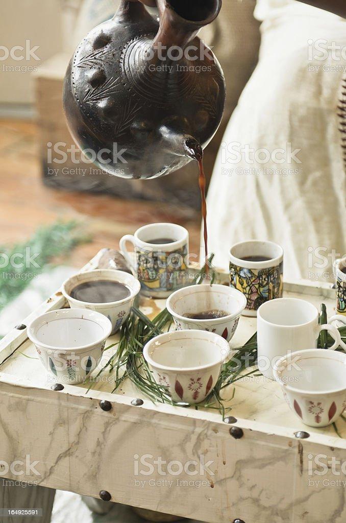 Ethiopian Coffee Ceremony royalty-free stock photo