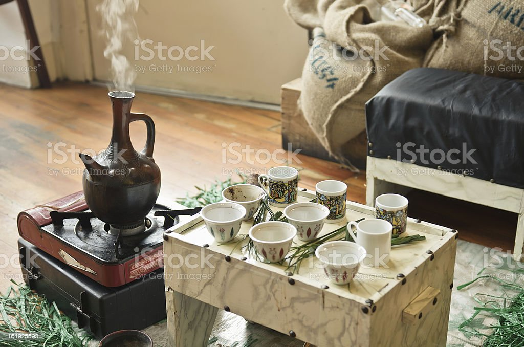 Ethiopian Coffee Ceremony stock photo
