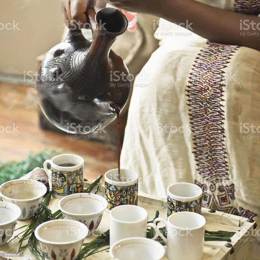 Ethiopian Coffee Ceremony stock photo