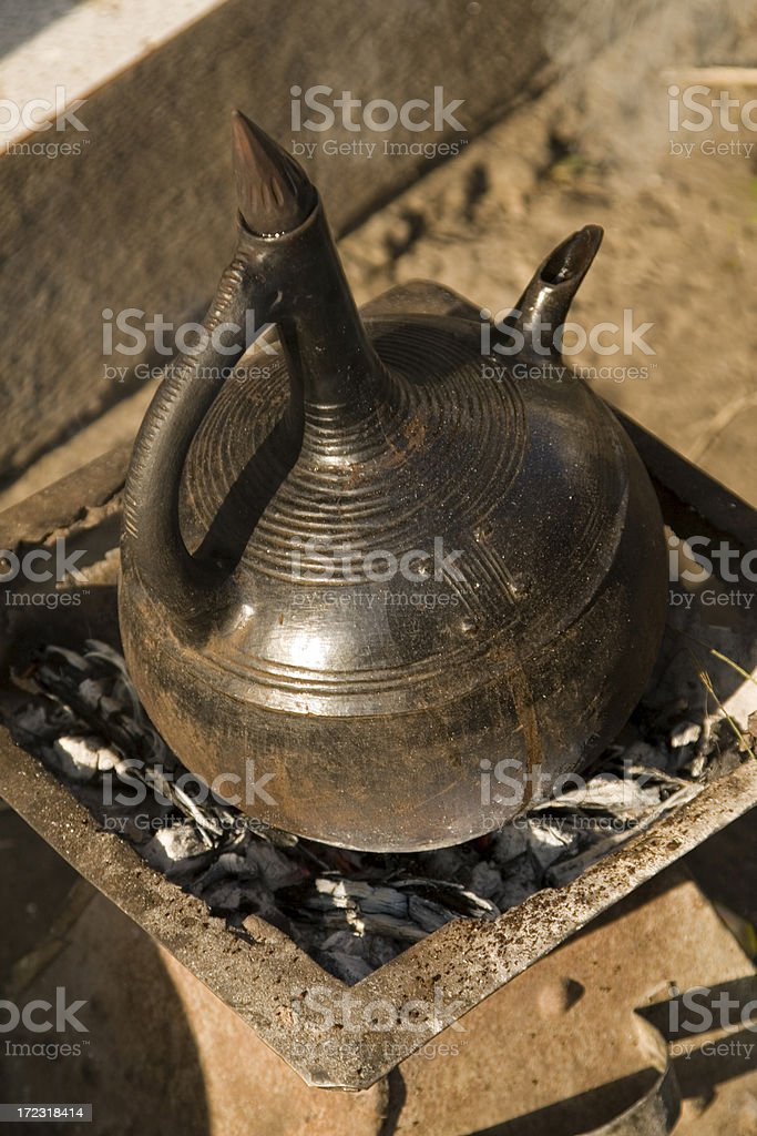 Ethiopian coffeepot royalty-free stock photo