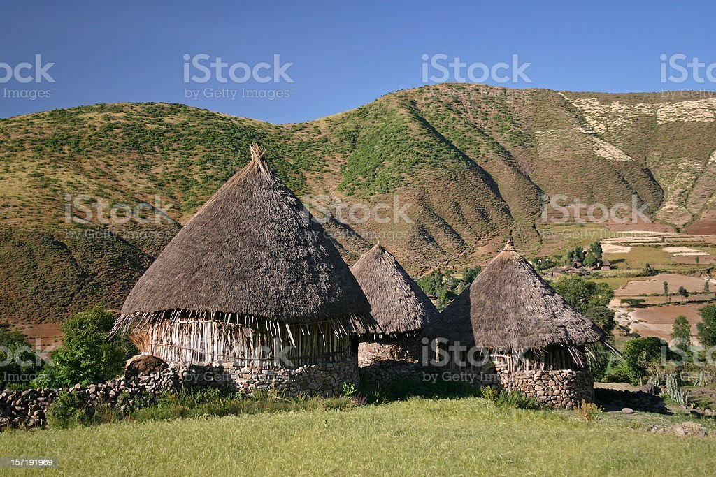 Ethiopian Cottages royalty-free stock photo
