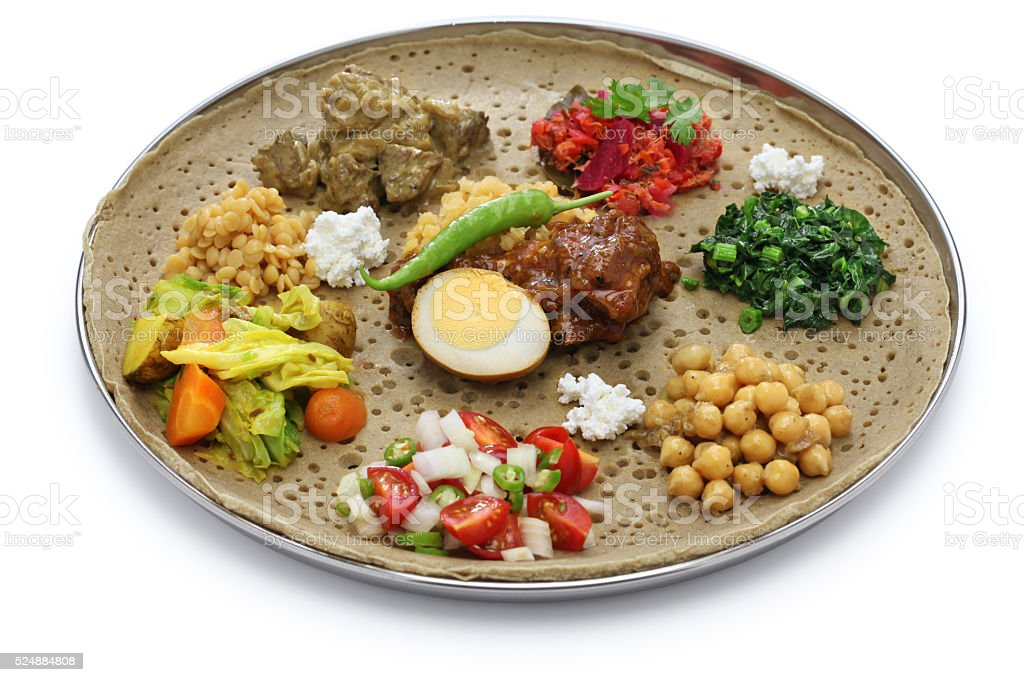 ethiopian cuisine stock photo