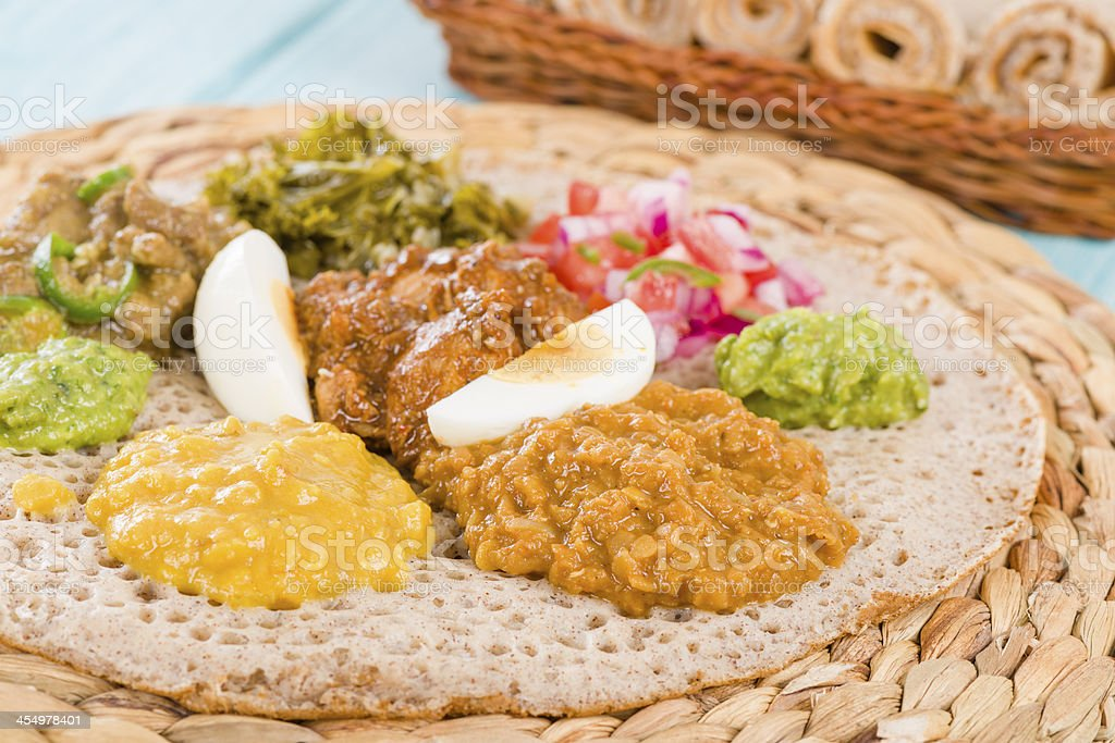 Ethiopian Feast stock photo