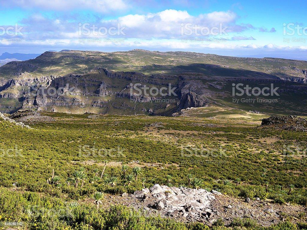 Ethiopian Highlands near Lalibela stock photo