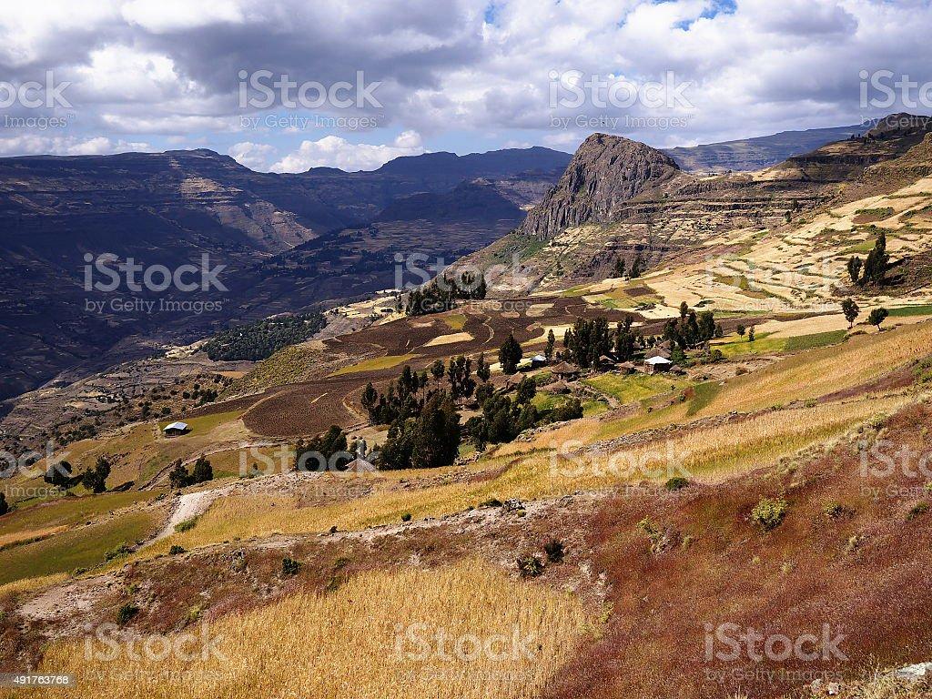Ethiopian Highlands stock photo