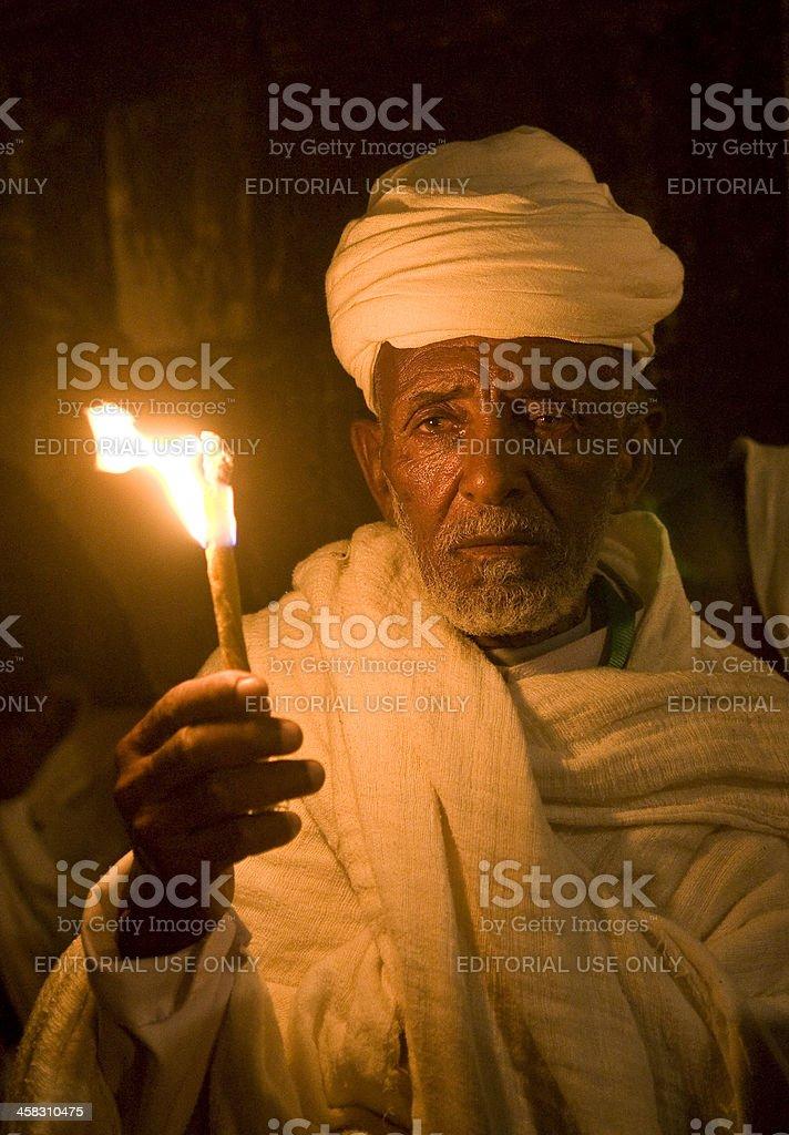 エチオピアの「ファイヤー」でのセレモニー ロイヤリティフリーストックフォト
