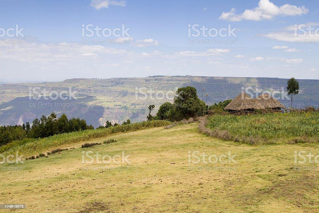 Ethiopian Landscape, Canyon of Debre Lebanos stock photo