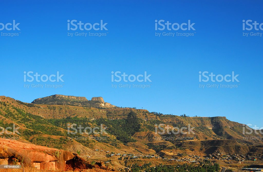 Ethiopian Landscape, Lalibela royalty-free stock photo