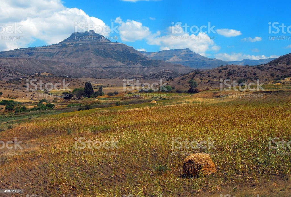 Ethiopian Landscape, Lalibela royalty-free stock photo