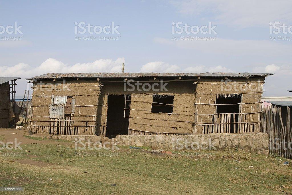 Ethiopian loam hut royalty-free stock photo