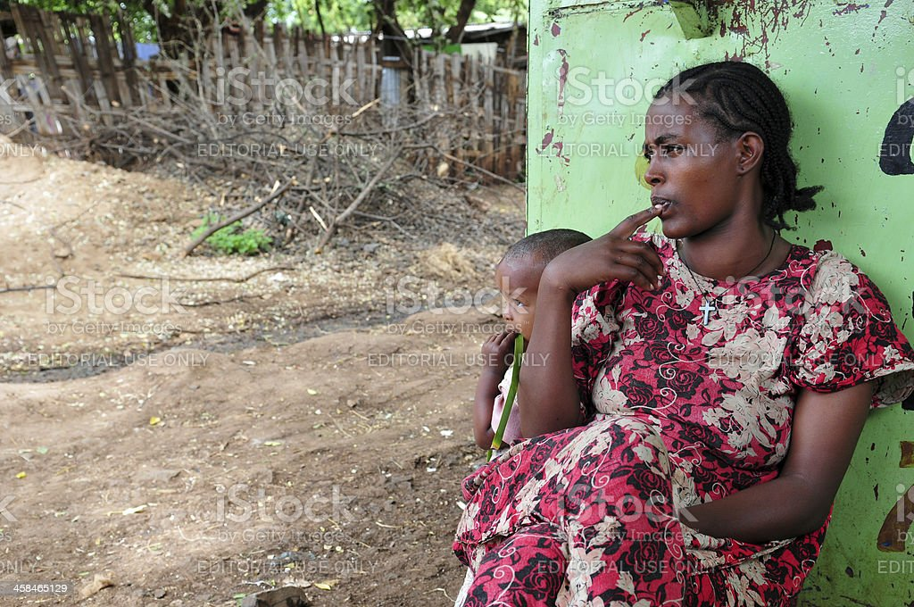 Ethiopian mother and child royalty-free stock photo